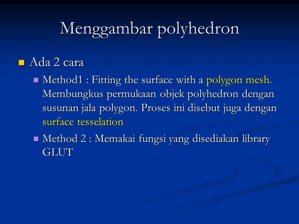 Menggambar polyhedron