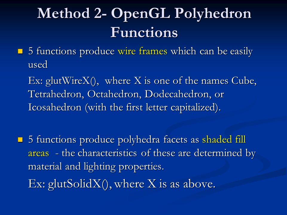 Method 2- OpenGL Polyhedron Functions