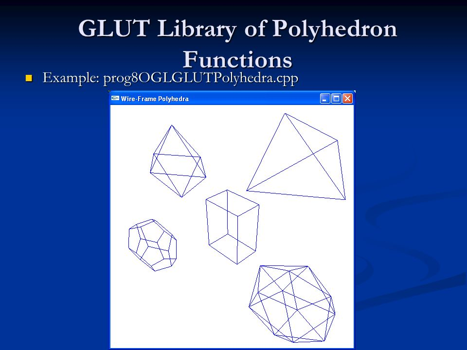 GLUT Library of Polyhedron Functions