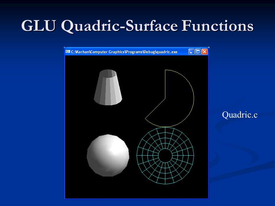 GLU Quadric-Surface Functions