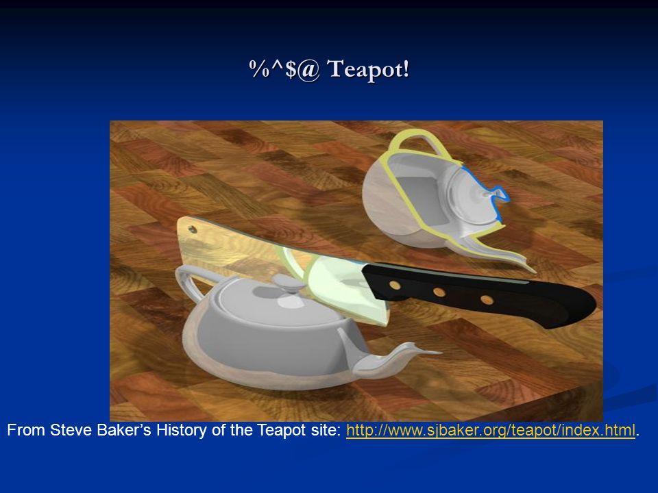 %^$@ Teapot.