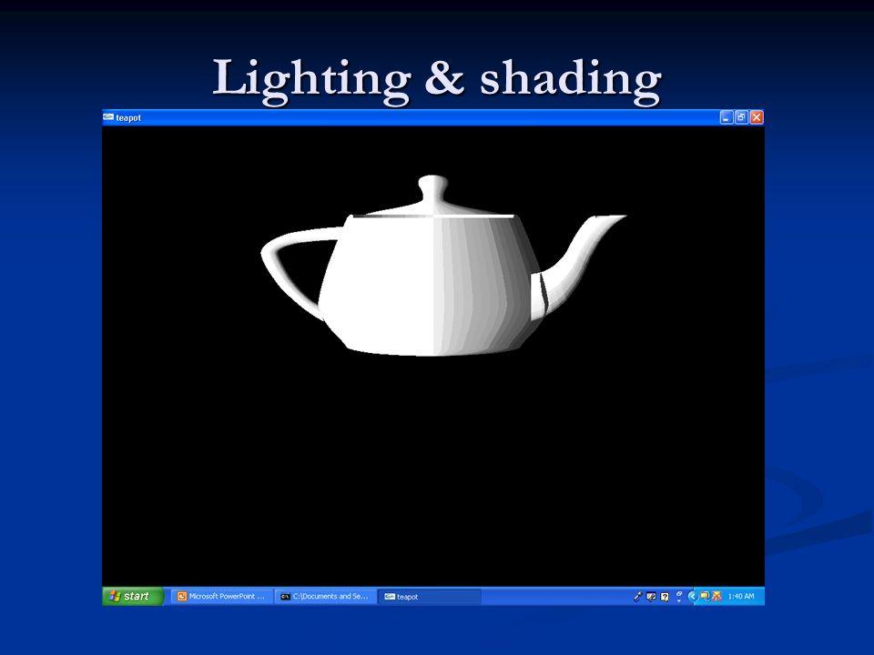 Lighting & shading