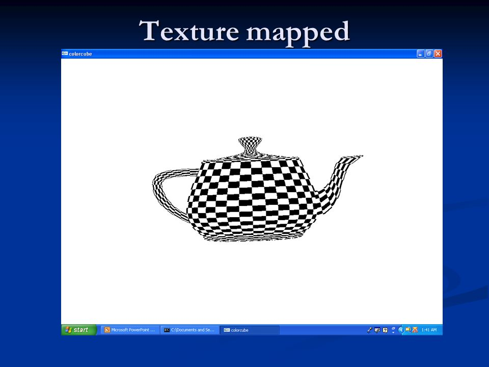 Texture mapped