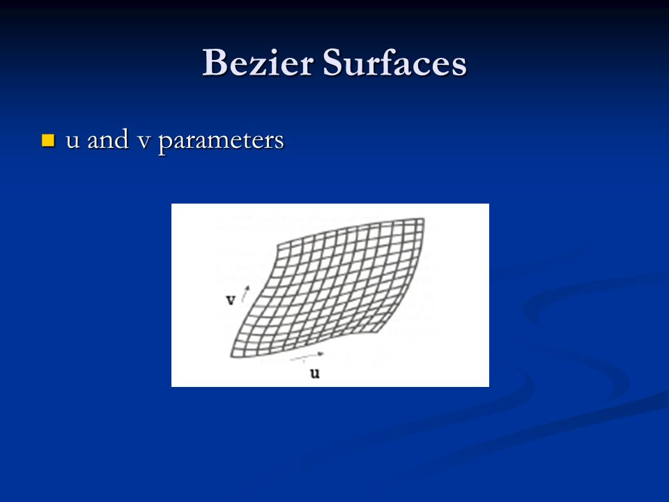 Bezier Surfaces u and v parameters