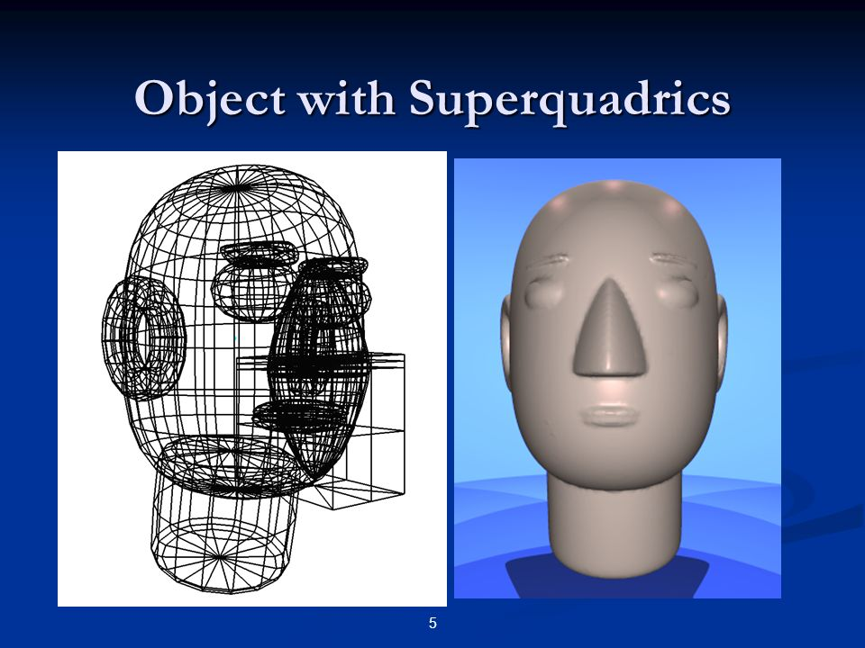 Object with Superquadrics