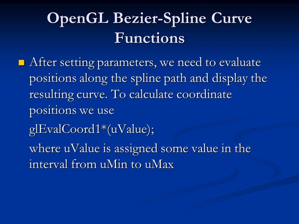 OpenGL Bezier-Spline Curve Functions