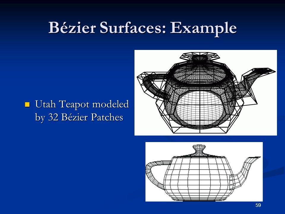 Bézier Surfaces: Example