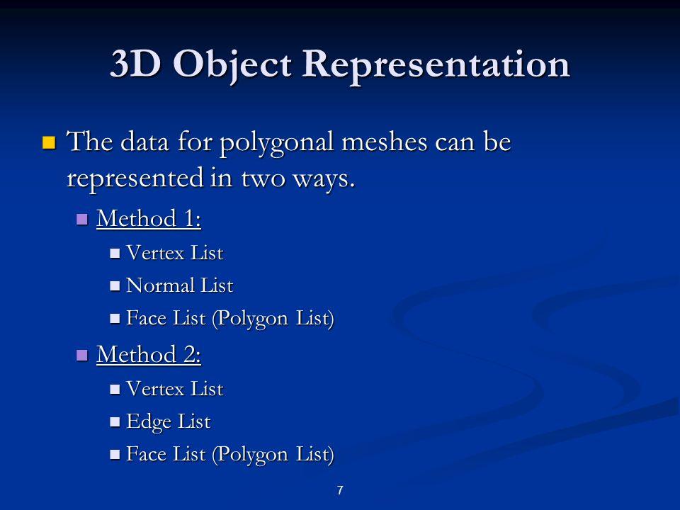 3D Object Representation