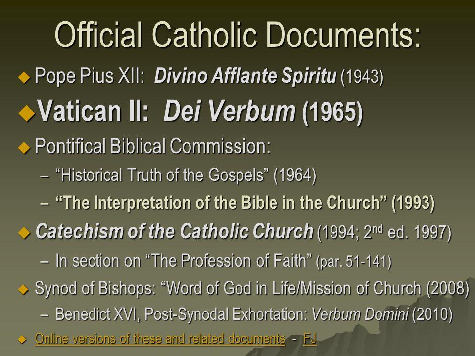Summary of Dei Verbum   Shaun McAfee