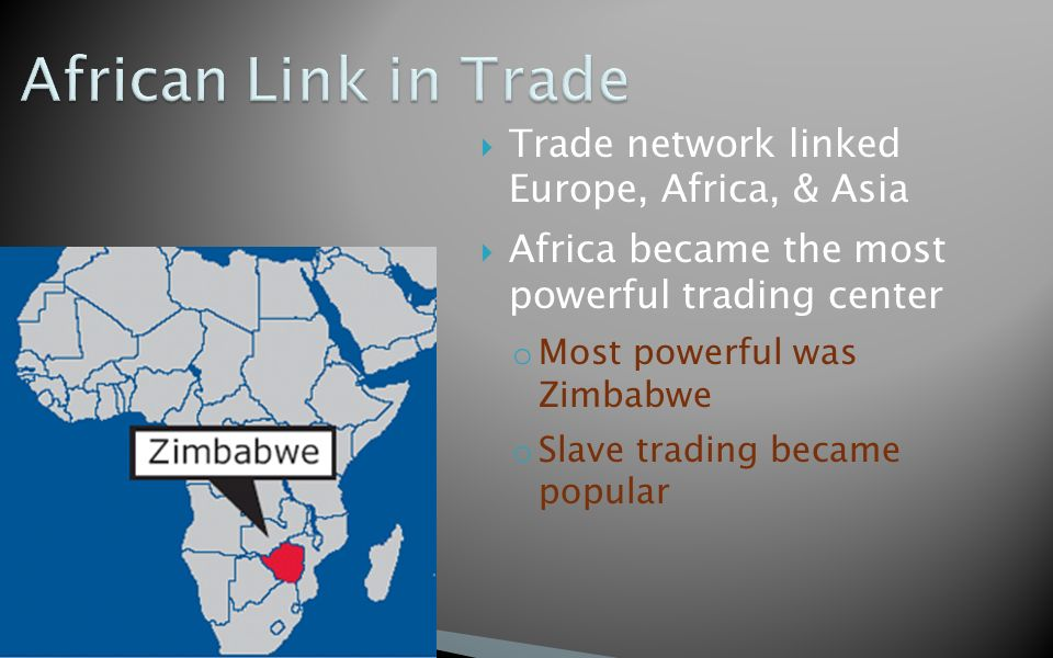 the trade networks between africa and The trade route was instrumental in the spread of islam from the berbers in north africa into west africa, and with islam came arabic knowledge, education, and language the trans-saharan trade .
