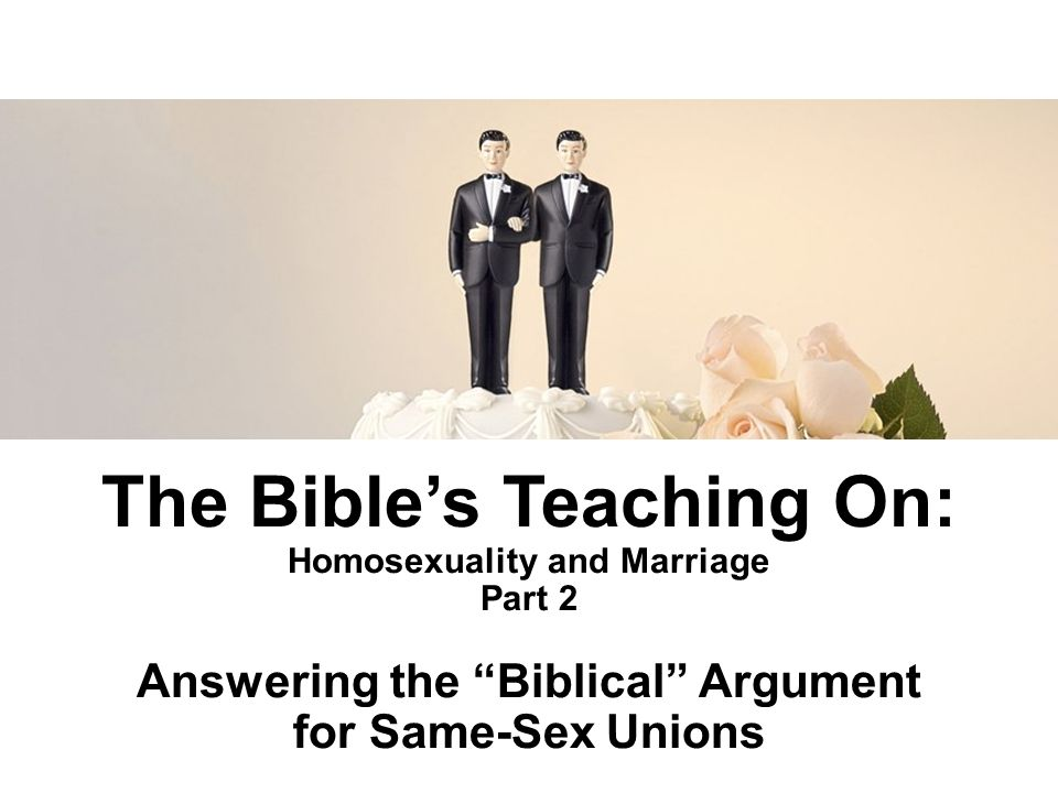 bible arguments against same sex marriage