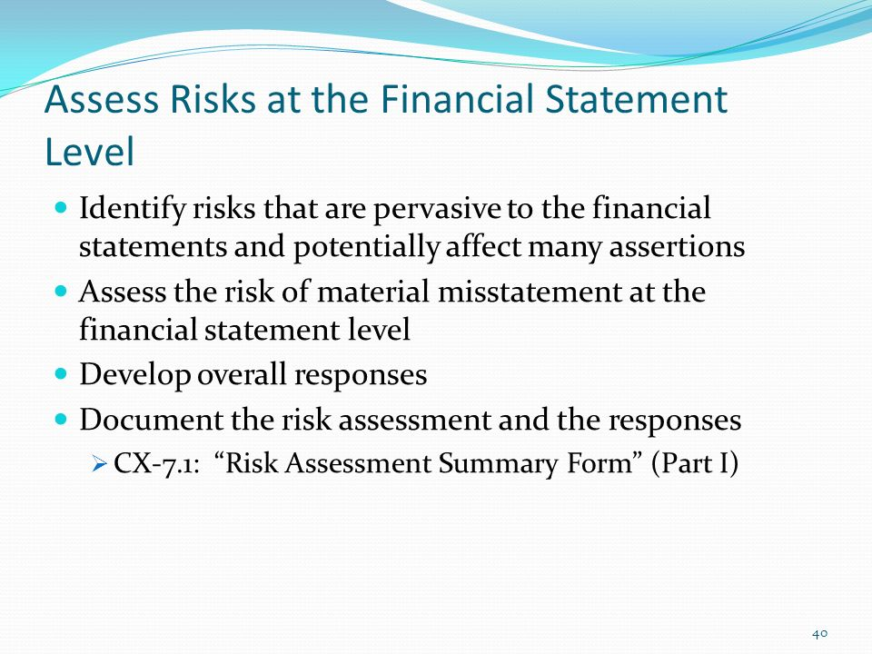 assessing financial statements The process for the assessment of financial viability should be financial statements can be analysed to provide insight assessing financial.