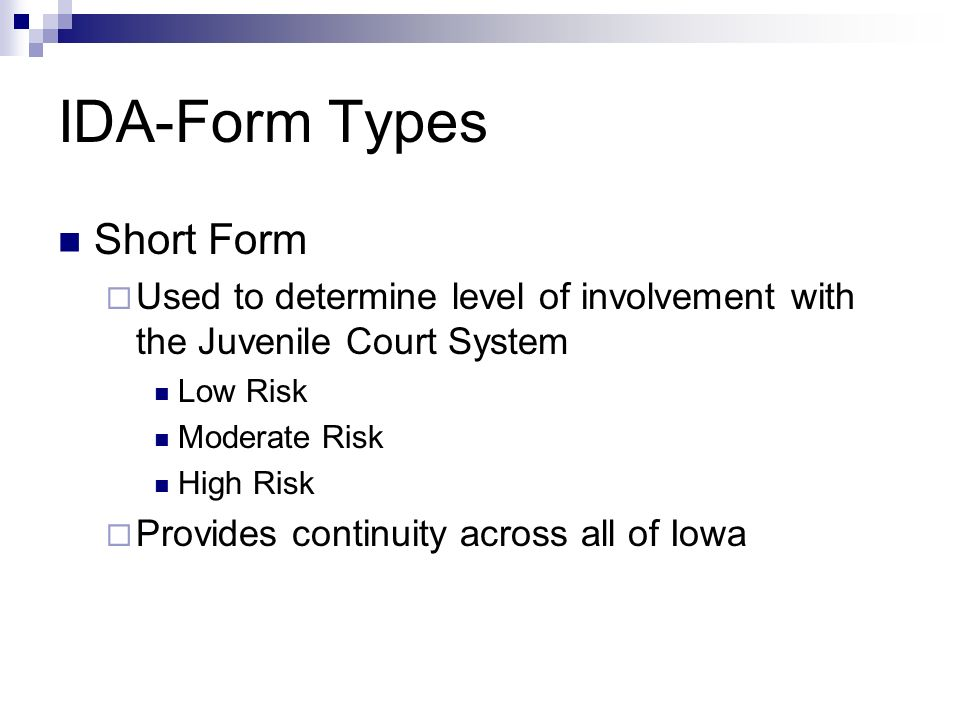 The Iowa Delinquency Assessment Tool - ppt video online download