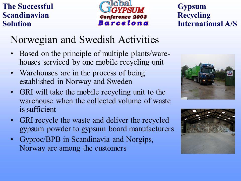 Norwegian and Swedish Activities