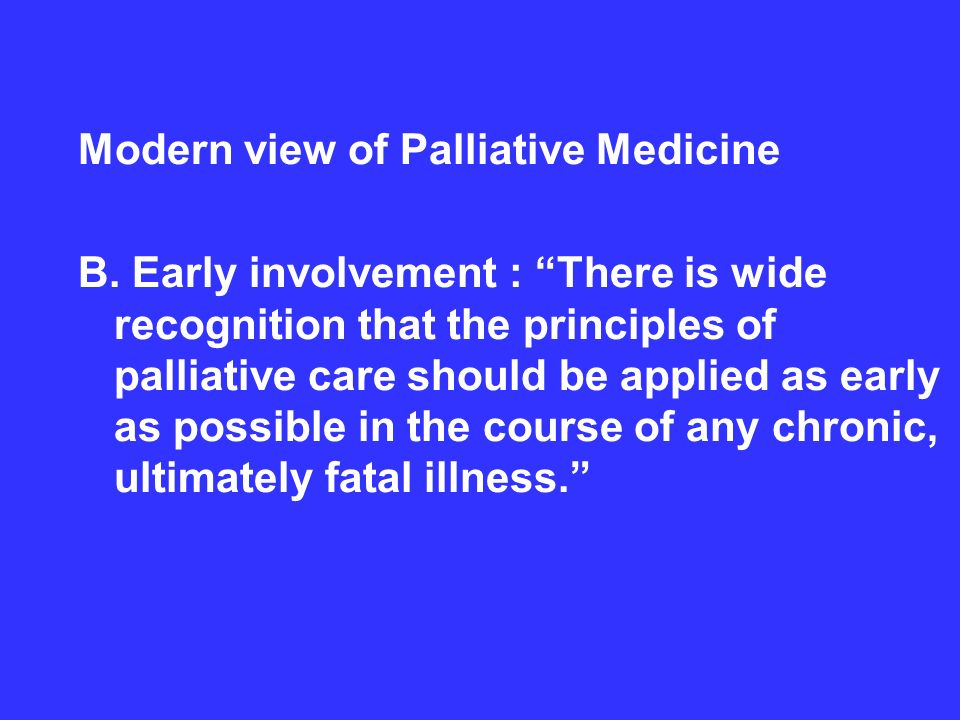 principles of palliative care chronic and Conclusion it is vital for orthopaedic nurses to be aware of the palliative care needs of patients with chronic, life-threatening, or life-limiting.