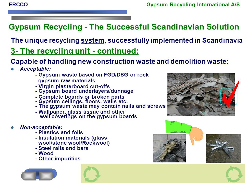 3- The recycling unit - continued: