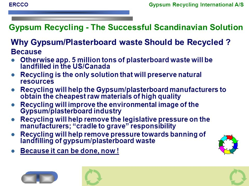Why Gypsum/Plasterboard waste Should be Recycled