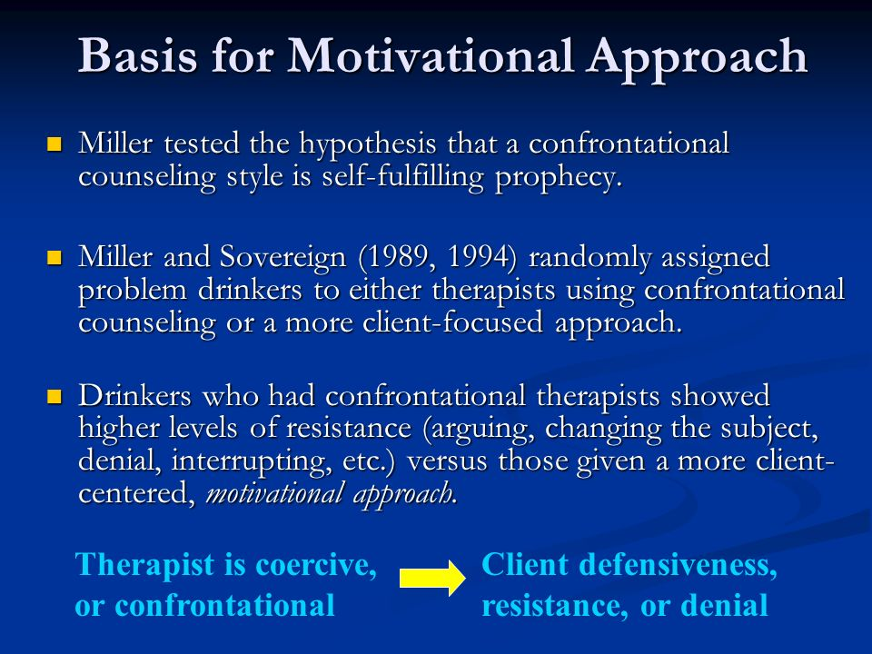 Basis for Motivational Approach