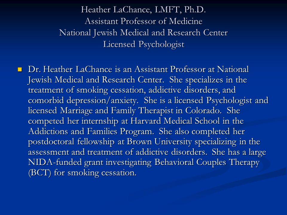 Heather LaChance, LMFT, Ph. D