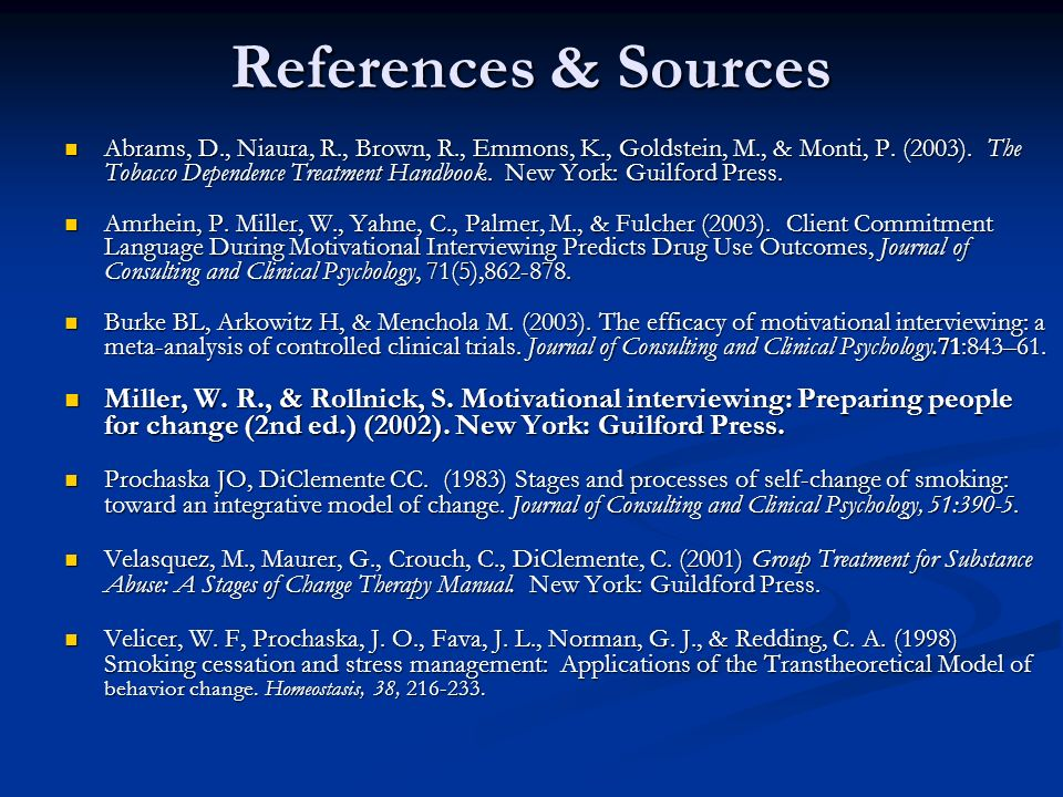 References & Sources