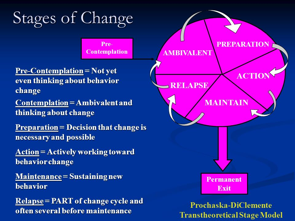 Prochaska-DiClemente Transtheoretical Stage Model