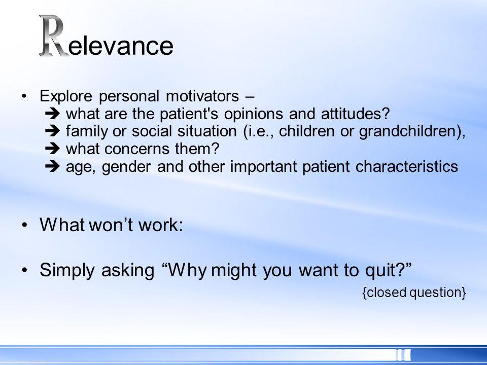 elevance R What won't work: