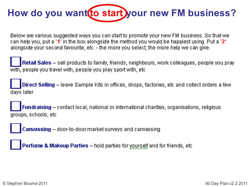 How do you want to start your new FM business