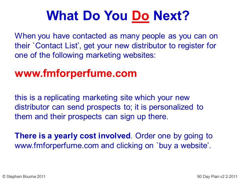 What Do You Do Next www.fmforperfume.com