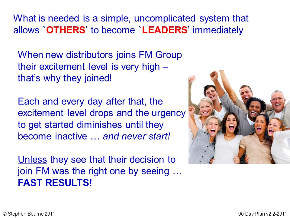 What is needed is a simple, uncomplicated system that allows `OTHERS' to become `LEADERS' immediately