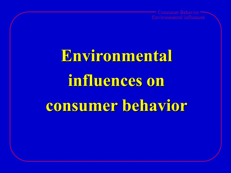 environmental and consumer influences analysis 3245 unit of analysis 80 3246 time horizon 81  522 conclusions about the impact of macro-environmental factors and micro-environmental factors on consumer .