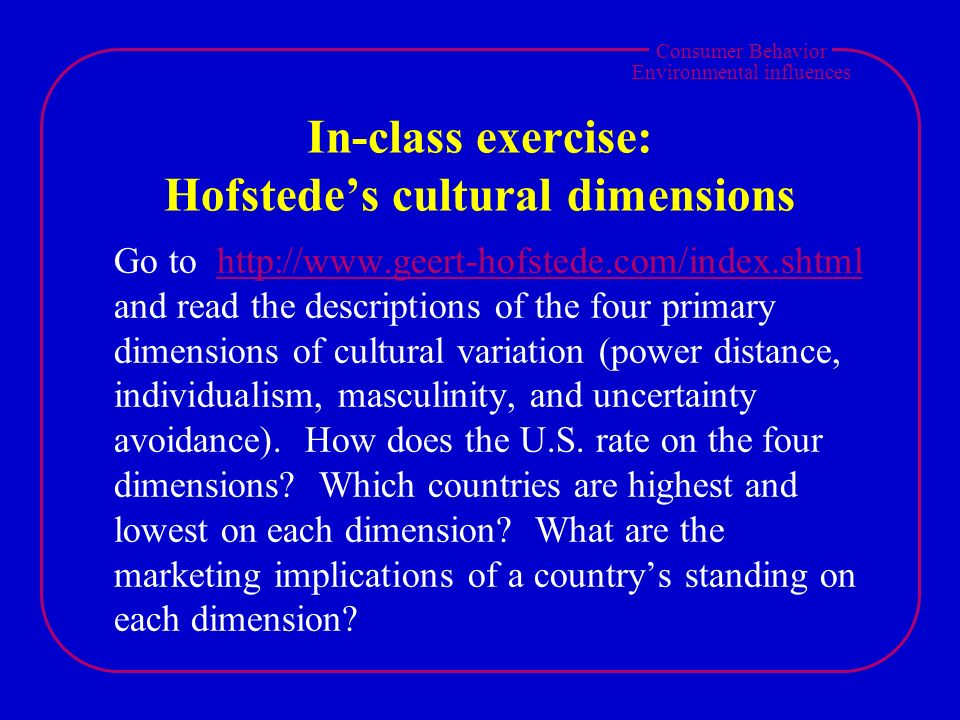 the four dimensions of distance Hofstede's cultural dimensions 1 national culture has been shown to impact on major business activities,  power distance cultures inequality is not desired,.