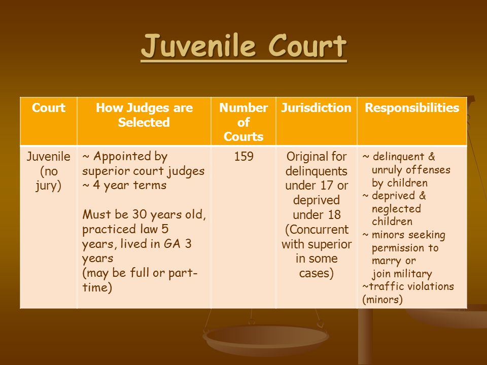 juvenile and adult criminal justice courts comparison The juvenile court system: history & structure  there are many similarities  and differences between the treatment of a juvenile and an adult in the criminal.