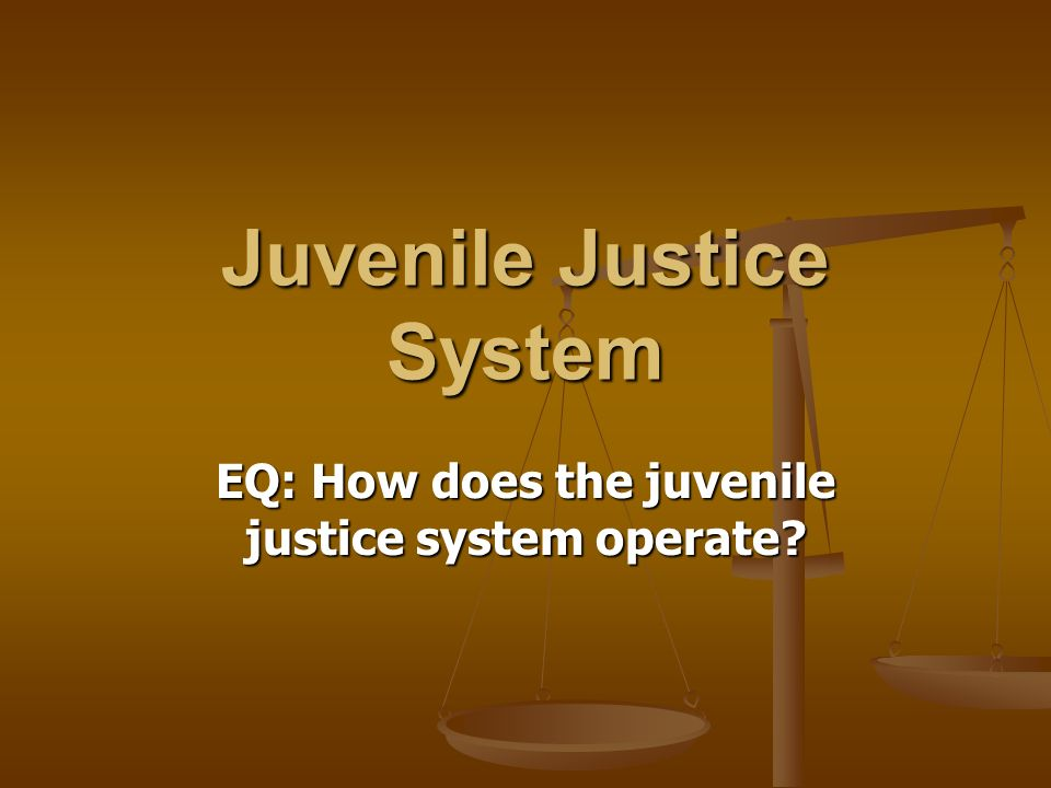 rehabilitating the juvenile justice system Through the years, the juvenile justice system has evolved to address the growing concern of youth offenders in the society it aspires to achieve their.