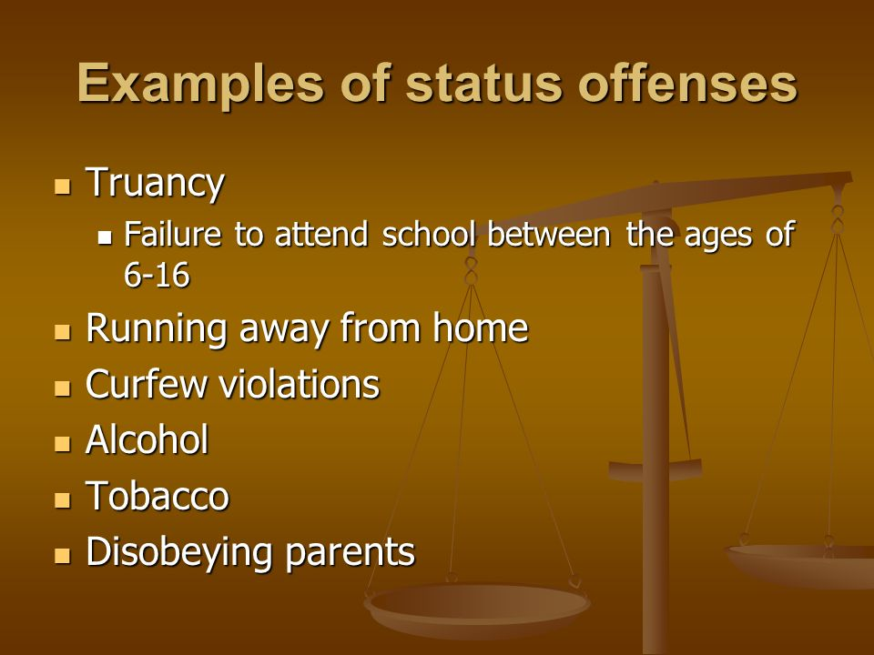 juvenile status offense Juvenile court proceedings in michigan: questions and answers what is juvenile court juvenile court is a special court for youth who are charged with a crime or status offense.