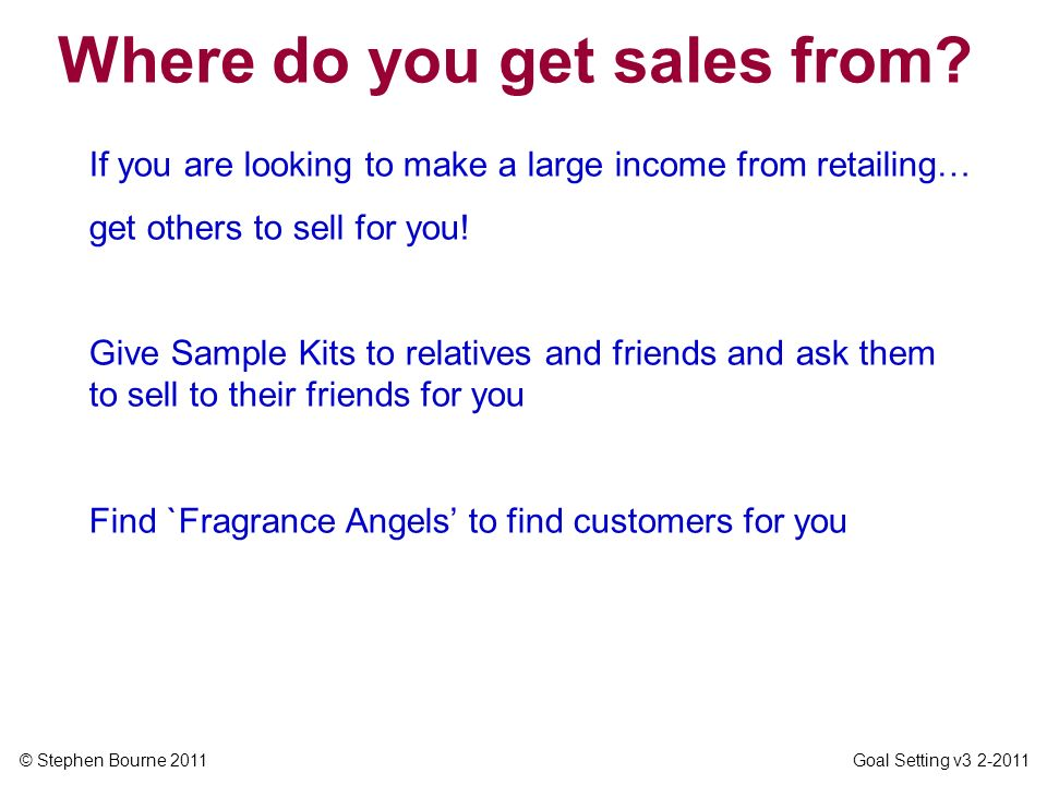 Where do you get sales from