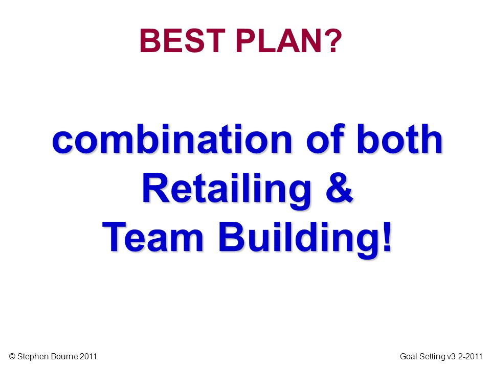 combination of both Retailing & Team Building!