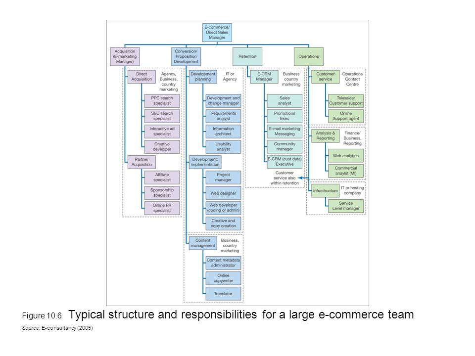 ecommerce team structure Chapter 10 Change management - ppt video online download