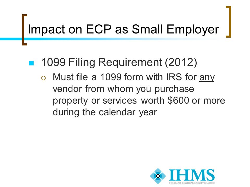 Impact on ECP as Small Employer