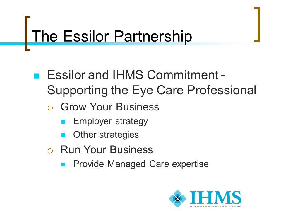 The Essilor Partnership