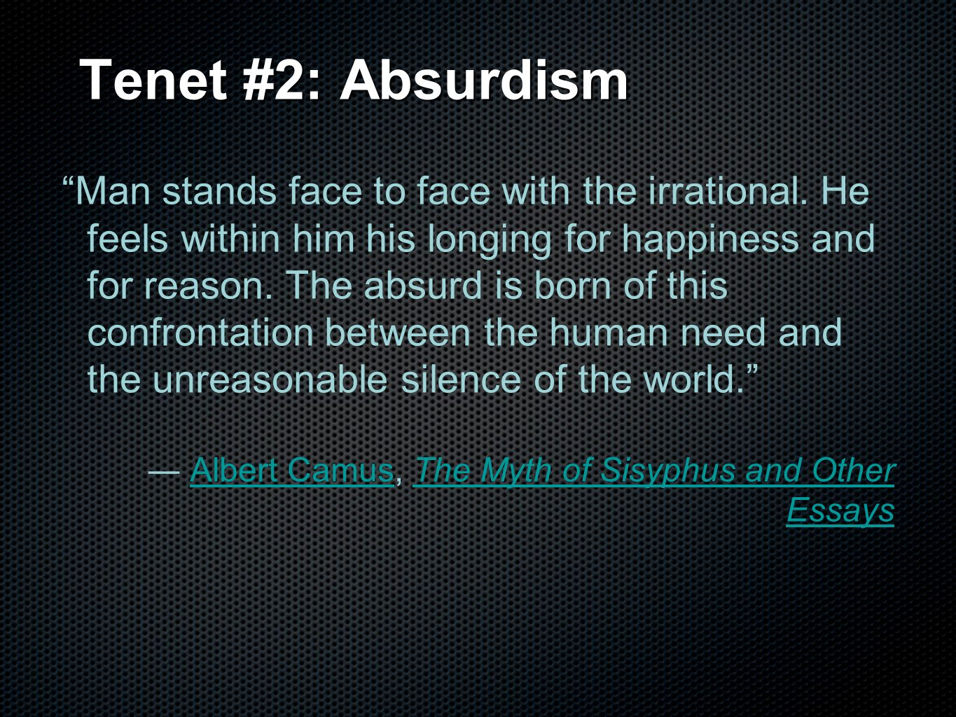 introduction to existentialism ppt video online 12 tenet