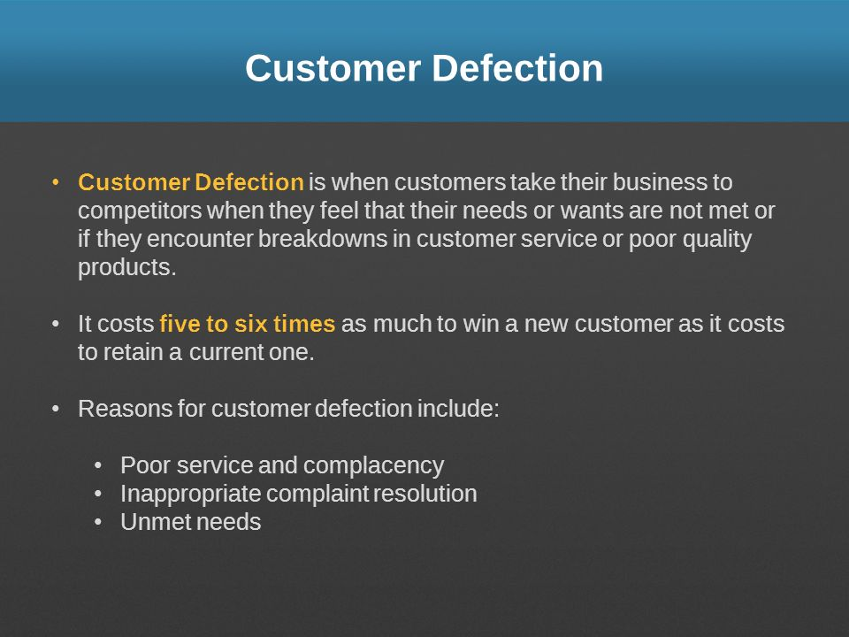 Customer Defection