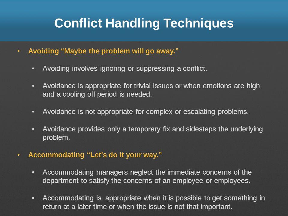 Conflict Handling Techniques