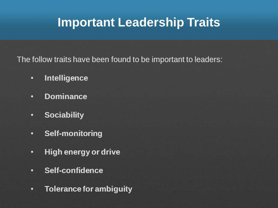 Important Leadership Traits