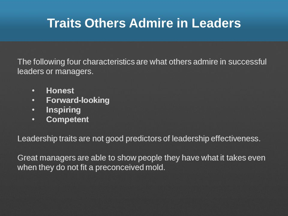 Traits Others Admire in Leaders