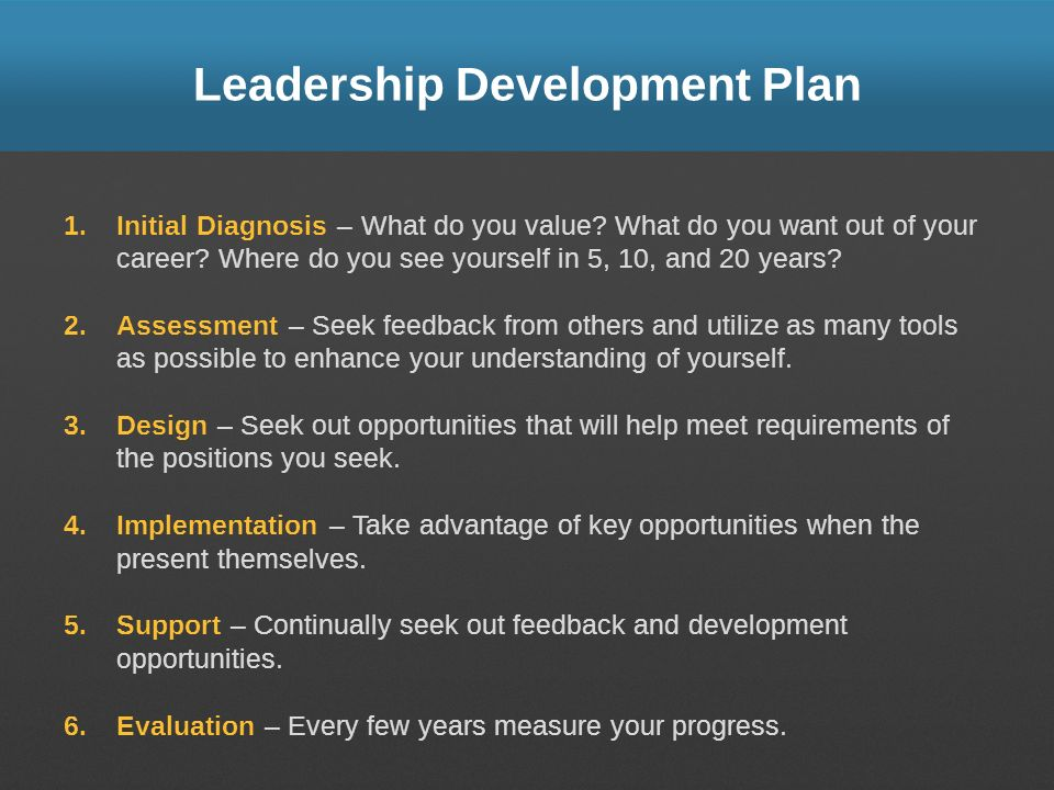 Leadership Development Plan
