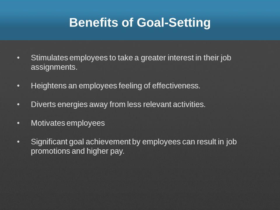 Benefits of Goal-Setting