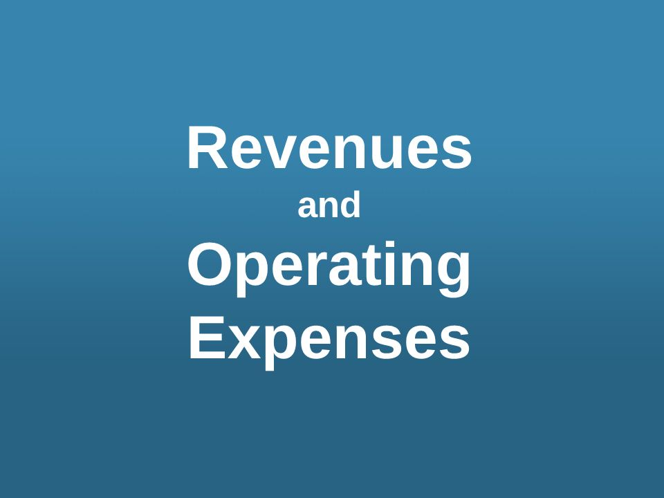 Revenues Operating Expenses