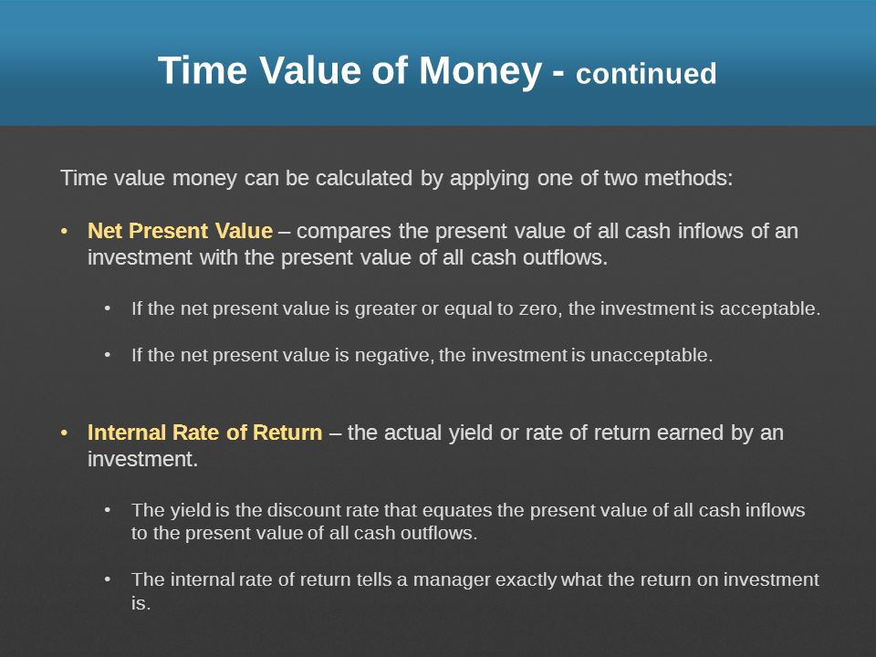 Time Value of Money - continued