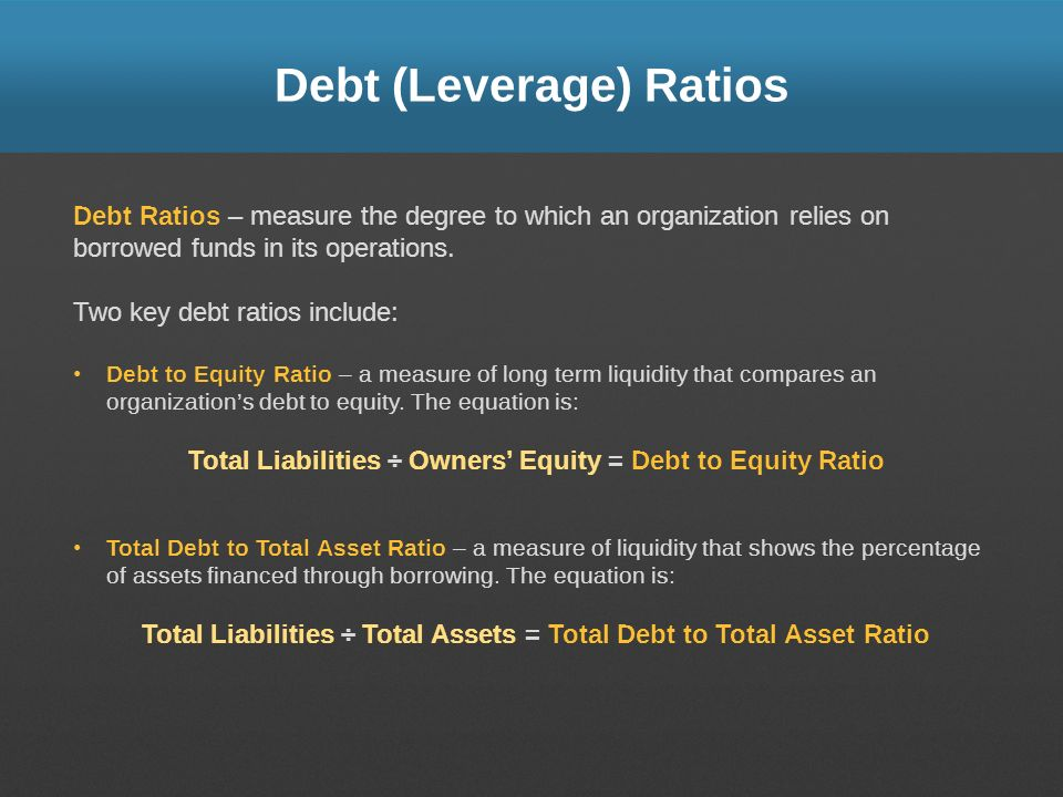 Debt (Leverage) Ratios