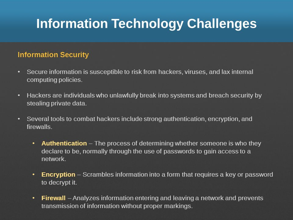 Information Technology Challenges
